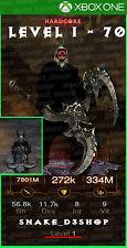 Diablo 3 Xbox One - Fully Modded HARDCORE Barbarian Set Wastes - Level 1 - 70