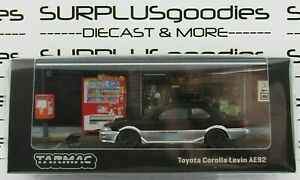 Tarmac Works 1:64 2021 Road64 BkGry TOYOTA COROLLA Levin AE92 Item #T64R-036-BLK