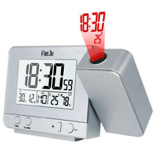 Projection LED Digital Snooze Alarm Clock Weather Thermometer Humidity Monitor