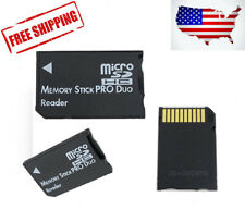 Memory Stick Pro Duo Adapter Micro SD SDHC TF Card Reader for Sony & PSP Series