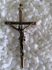 Kruzifix Anhänger für Kette Jesus am Kreuz Kettenanhänger Bronze Kirche Religion