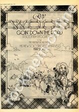 Roy Wood Goin' Down The Road Advert 8/6/74