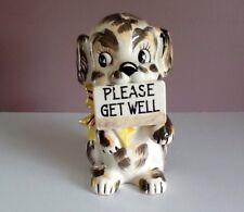 Napco Vintage 1958 Dog Planter Please Get Well Japan