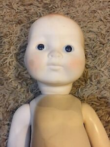 """Vintage Darice Rubber New Born Baby Doll Fully Jointed Craft Glass Eyes 12"""""""