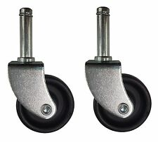 (2) Wet/Dry Vac Wheel with Tight Swivel Radius Compatible with Craftsman 73102