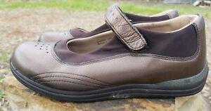 Drew Women Mary Jane Othopedic Brown Loafer Size 8.5 W