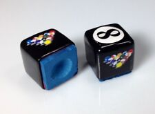 ( 2 ) Billiard Pool Table Cue Chalk Holder 8-Ball Rack Design Master's Chalk
