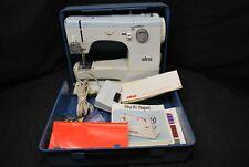 Vintage Elna Super Sewing Machine W/ Case & Original Manuals Tested Works -A1