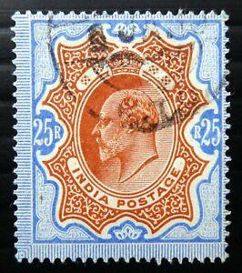 INDIA 1909 Ed.VII 25R SG147 Superb Used SALE CX602