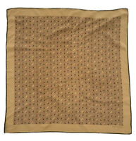 """PROCHOWNICK BROWN SCARF 100% SILK  25""""/25"""" GOOD CONDITION"""