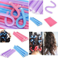 10PCS Curler Maker Soft Foam Bendy Twist Curls Tool Styling DIY Hair Roller Hot