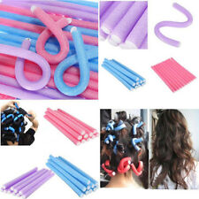 10PCS Curler Maker Soft Foam Bendy Twist Curls Tool Styling DIY Hair Curlers w/