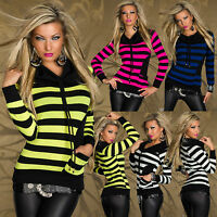 TOP WOMENS JUMPER BLOUSE LADIES SWEATER PARTY CLUBBING PULLOVER SIZE 6 8 10 12