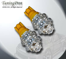 2pcs of T10 LED Instrument Gerneral 9 Flux Amber Light Bulb One Pair 2821 168