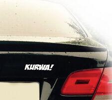 KURWA! Auto Aufkleber Sticker Folie Polnisch Schimpfwort Hure Fun Sticker JMD