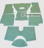 CLASSIC TRIUMPH TR4/5/6 Carpet Felt Kit  Sound Proofing FROM 1961 TO 1976