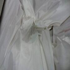tissu taffetas de soie 100% blanc cassé
