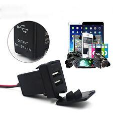 PER TOYOTA CARICABATTERIE AUTO 12V 24V to 5V 3.1A DOPPIA USB porte