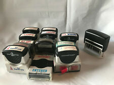 Lot Of 13 Office Self Inking Ink Rubber Stamps