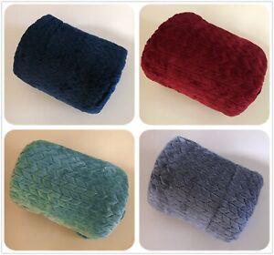 100*150CM Micro Coral Plain Fleece Blanket Soft Luxury Warm Home Sofa Bed Throw