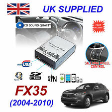 Para Infiniti FX35 MP3 SD USB CD AUX entrada adaptador de Audio Módulo de cambiador de CD