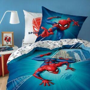 Spiderman City Bettwäsche, 80 x 80 cm + 135 x 200 cm 100% Baumwolle