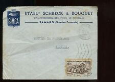 French Colony French West Africa Illustrated Advertising Cover 1953 Bamako