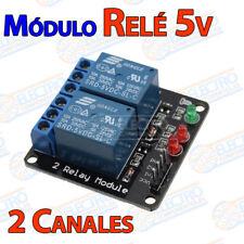 MODULO RELE 5V 2 CANALES 10A Arduino placa PIC aislado channels 2 reles