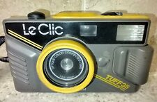 Le Clic Tuff 35 All Weather 35mm film camera - made in USA  Grey Yellow