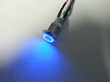 Led blue push button blue momentary button led button 12 volt momentary switch