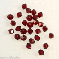 50 perles  toupies en cristal de Swarovski  5328 Siam 3 mm