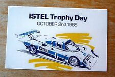 1988 Istel Trophy Day Silverstone Sports Car Racing Motorsport Sticker Decal