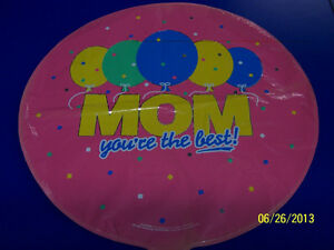 """RARE Mom...You're the Best! Mother's Day Party Decoration Foil 18"""" Mylar Balloon"""
