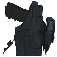 NEW - Tactical Military Large Frame Ambidextrous MOLLE Holster -  SWAT BLACK