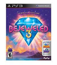 BEJEWELED 3 PS3 NEW! WORLDS #1 PUZZLE GAME! BONUS GAMES ZUMA + FEEDING FRENZY 2