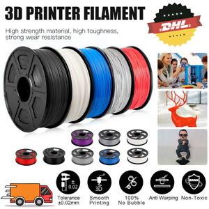 Premium 3D Drucker Filament 1 Rolle PLA+ PETG 1,75mm Durchmesser 1KG Spule Rolle