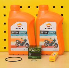 Honda XR 600 R Ölwechselset Öl Ölfilter Zündkerze Repsol 10w40 PE04 Motoröl
