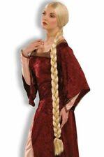 Rapunzel Costume Wig Womens Adult Extra Long Braids Princess Blonde Medieval