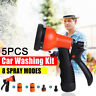 5PCS High Pressure Car Watering Spray Gun Brass Nozzle Garden Hose Pipe Lawn