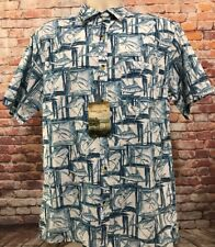 Clearwater Outfitters Mens Medium Marlin Short Sleeve Button Front Shirt - NWT