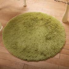 Fluffy Plüsch Boden Decken Rund Teppiche Zimmer Fußmatte Mat Uni Shaggy Rug Neu