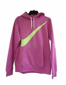 Nike Women's CLUB SWEAT FLEECE HOODIE  Red Violet/Volt  626569-506 a2