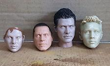1/6 Unpainted Head Sculpt LOKI Hot Toys Sarah Connor Tony Stark Bane Bruce Wayne