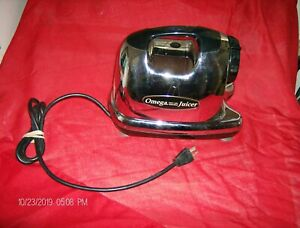 Replacement: Omega 8006 Juicer *BASE ONLY Motor*Chrome Stainless Steel (TESTED)