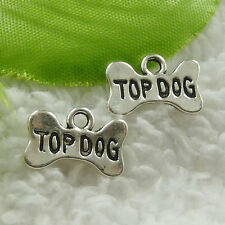 16x10mm Free Ship 180pcs tibet silver bowknot TOP DOG charms B4869