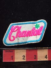 As-Is First Name Vintage Pink Letter CHANTAL Uniform Name Badge Patch 72X3