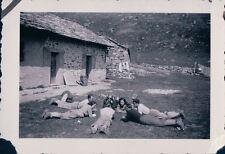 FOTO ALPINISTI AL RIFUGIO VITTORIO SELLA 1939 ALPE LAUSON Valle d'Aosta 7-73
