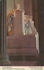 Lincoln Memorial Statue 1986 Rare USA Error Stamp Sharp Cut Vintage Art Postcard