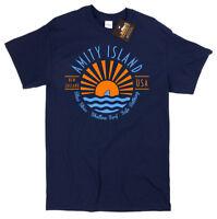 Amity Island Jaws T-shirt - Retro classic film movie sharks Tee 70s 80s NEW