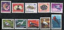 COCOS(KEELING) ISLANDS 1969 SET (12v) SHELLS FISH BIRDS MNH
